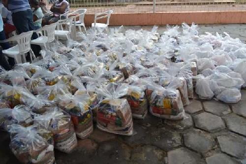 Cesta básica para doação