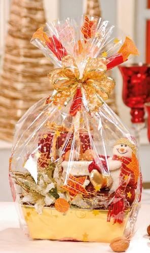 cestas decoradas de natal